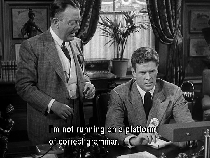 """I'm not running on a platform of correct grammar."""