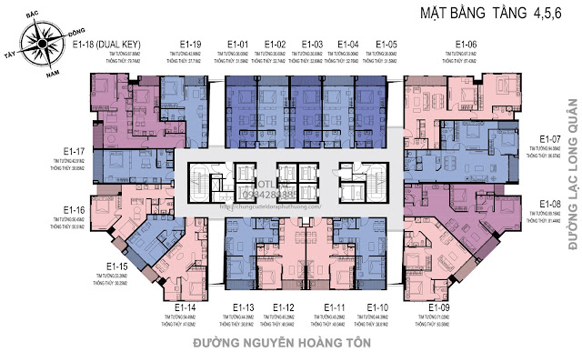 Mặt bằng căn hộ D'el Dorado Premium tâng 4,5,6
