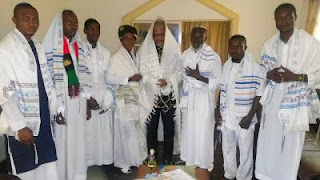 Biafra: Nnamdi Kanu receives members from 'Jewish Synagogue' {PHOTOS}