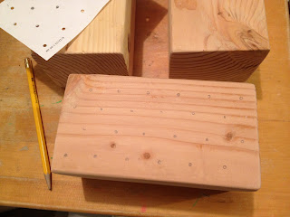 how to make a pencil holder using a 4x4