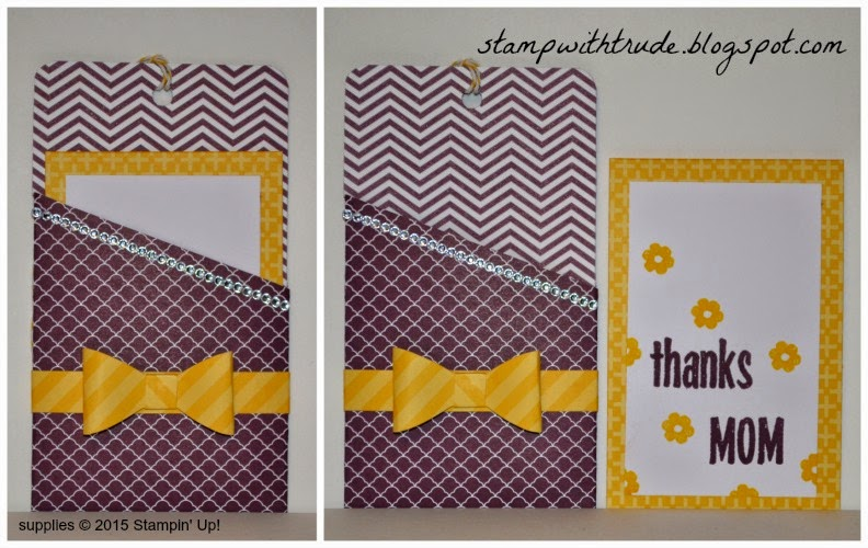 Designer Series Paper stack, Trude Thoman, stampwithtrude.blogspot.com, April Paper Pumpkin Remake 3, Stampin' Up!, Mother's Day card, Thank you card