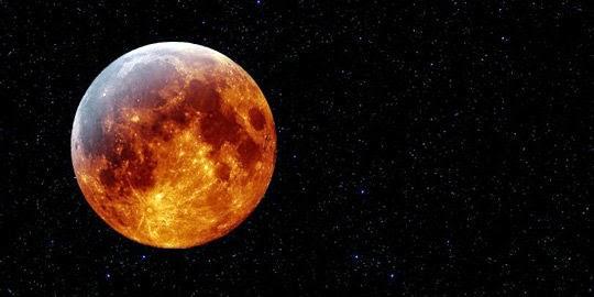 KUMPULAN FOTO GERHANA BULAN TERBARU  Gambar Gerhana Bulan