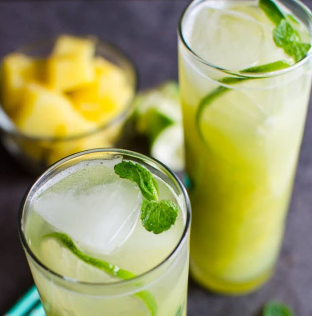 Non-Alcoholic Pineapple Mojito #summerdrink #fresh