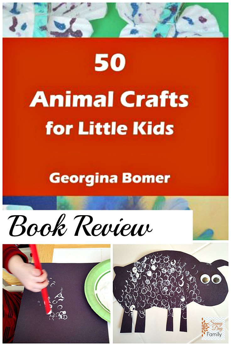 50 Animal Crafts for Kids book review and a look at our first craft project from the book!