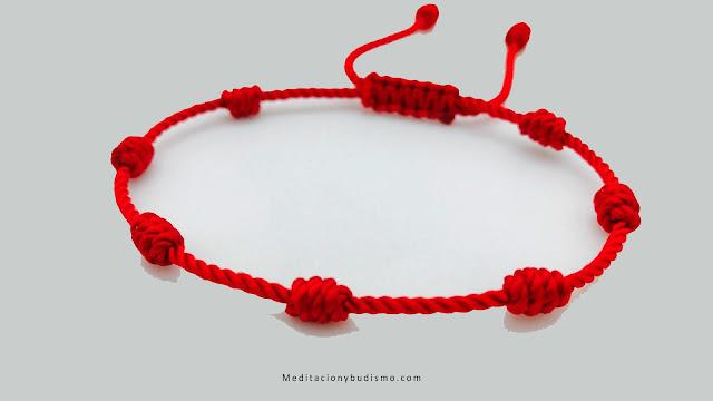 Significado de los 7 nudos en pulsera roja