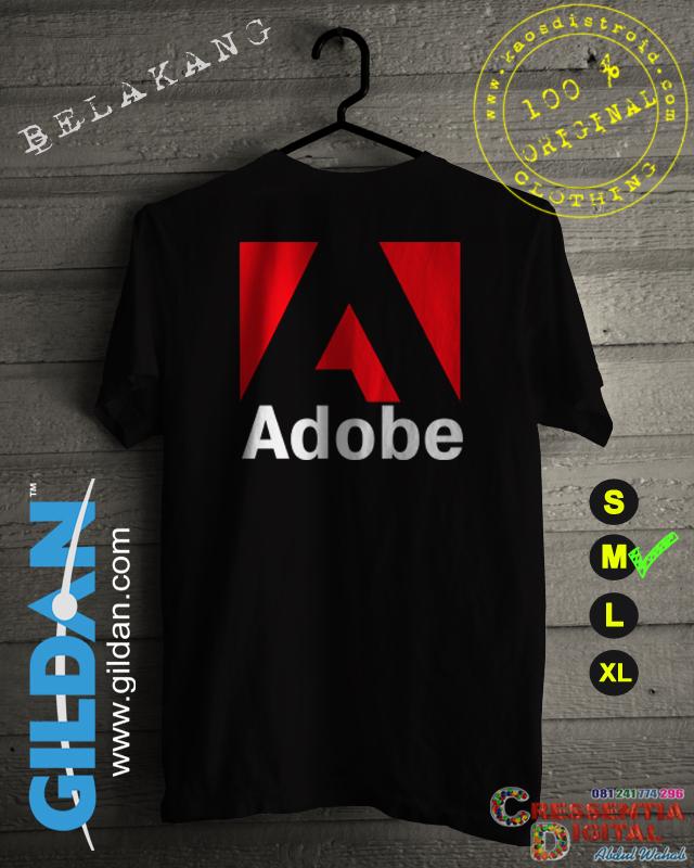 Baju Kaos Distro ADOBE Pecinta Photoshop Warna hitam