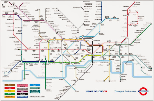 The #Tube Map of Music Genre's