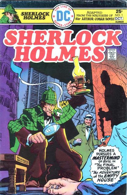 Sherlock Holmes v2 #1, 1975 dc bronze age comic book cover