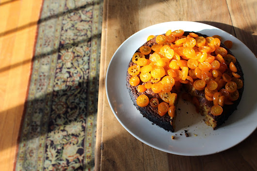 all kinds of yum: Orange Almond Cake with Candied Kumquats
