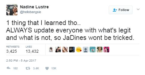 Nadine Lustre Has Only 3 Words For The Netizen Who Told Her To 'Fix Her Attitude'