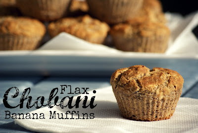 Flax Banana Muffins with Chobani
