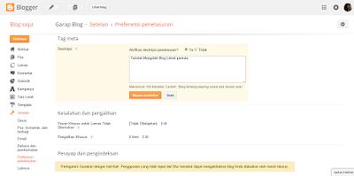 garap blog - Cara Terbaru Mengaktifkan Meta Description atau Deskripsi Penelusuran