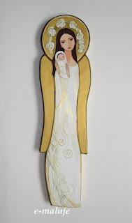 Anioł Stróż z Dzieckiem … Ikona na Opiekę :) Pamiątka Chrztu Świętego, Narodzin