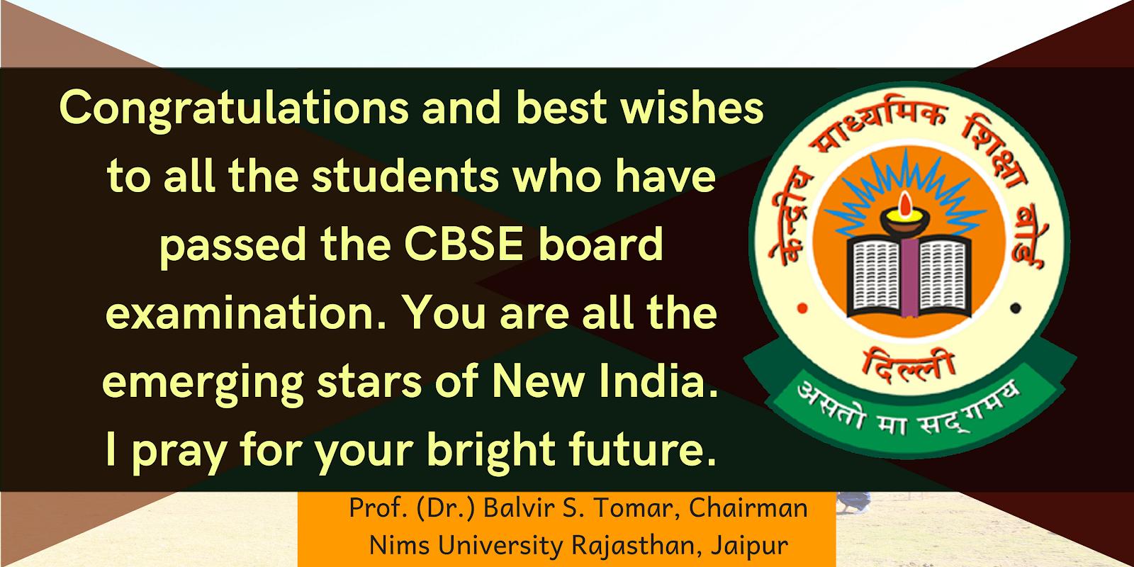 Cbse 12th Result 2018 Greetings Prof Dr Balvir S Tomar