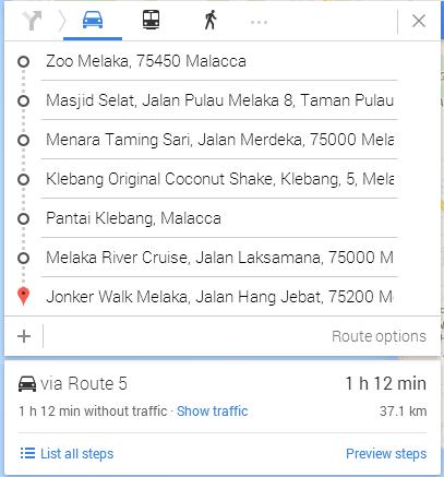 satu hari trip di Melaka