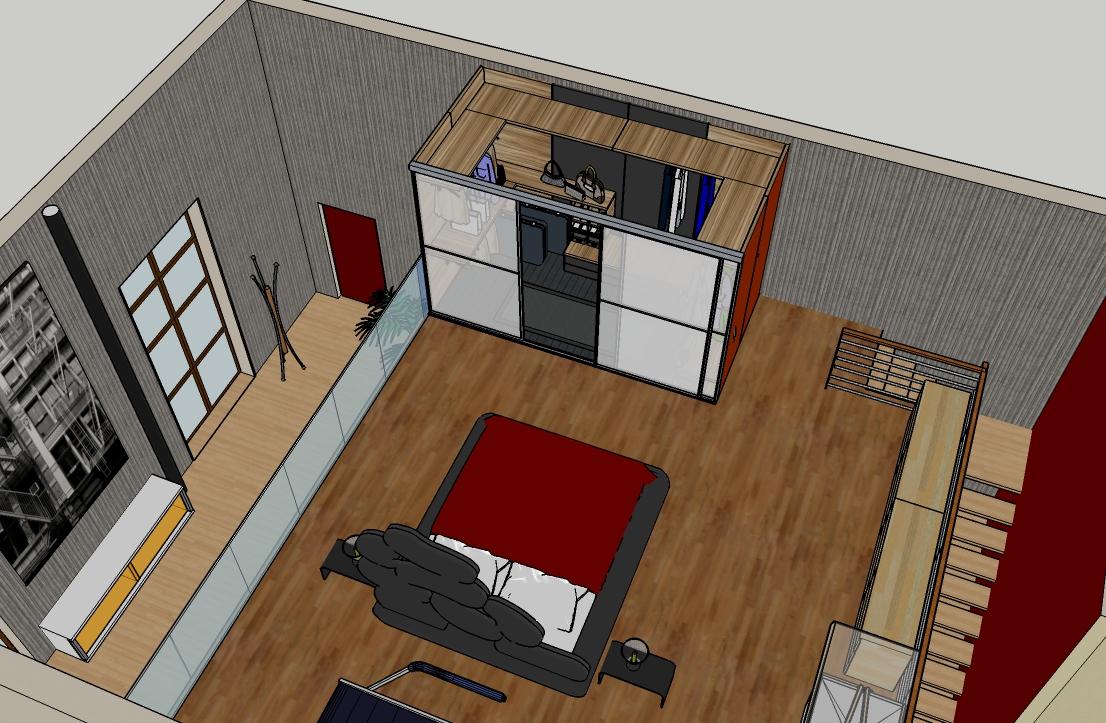 Loft a milano interno 75 - Stanza da letto con cabina armadio ...