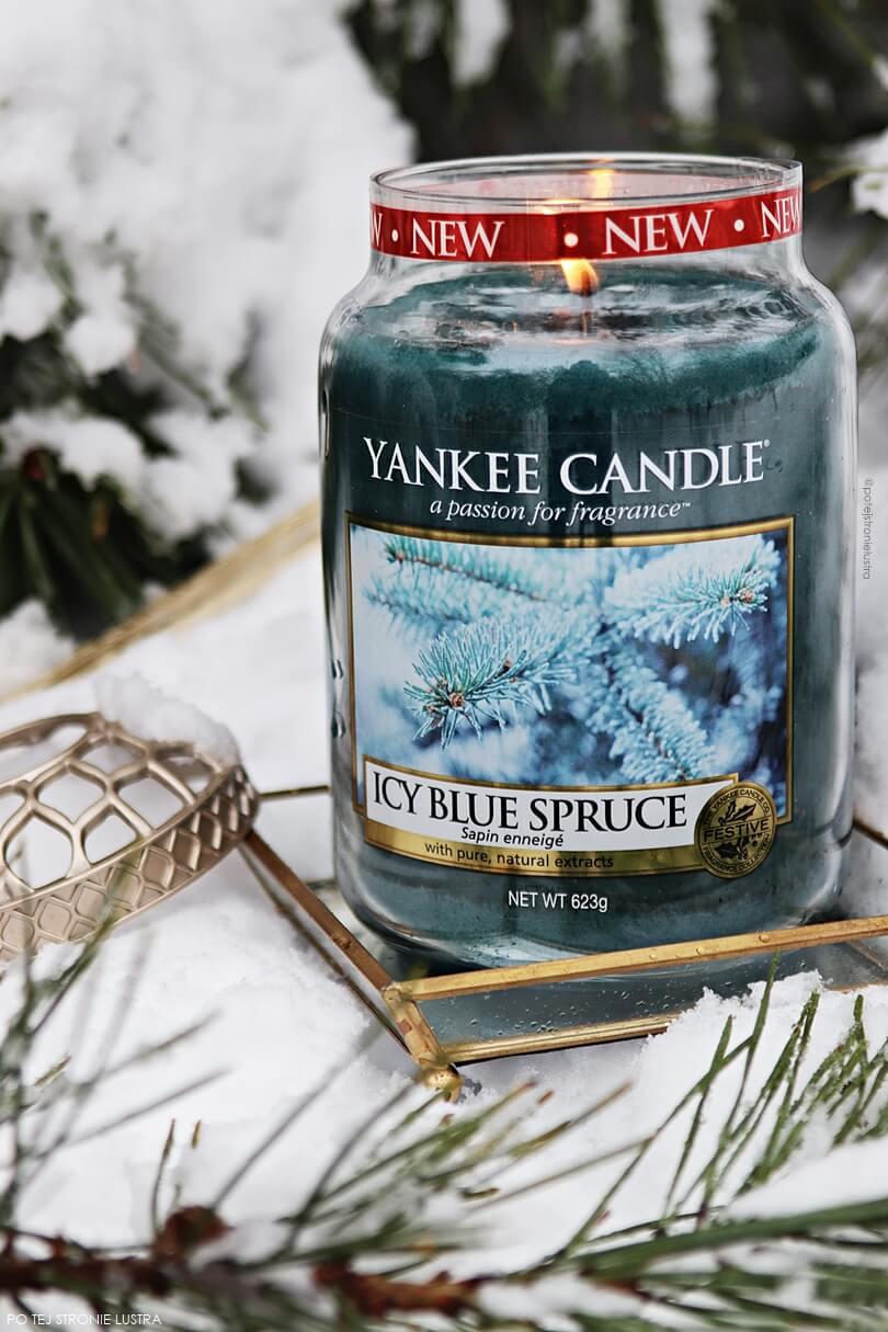 yankee candle icy blue spruce zima 2018
