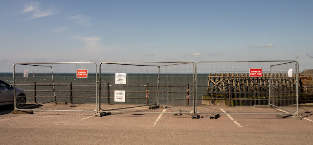 Photo of the fencing erected around the hole this week