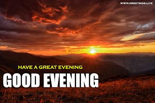 Good Evening Messages Sunset Landscape Images