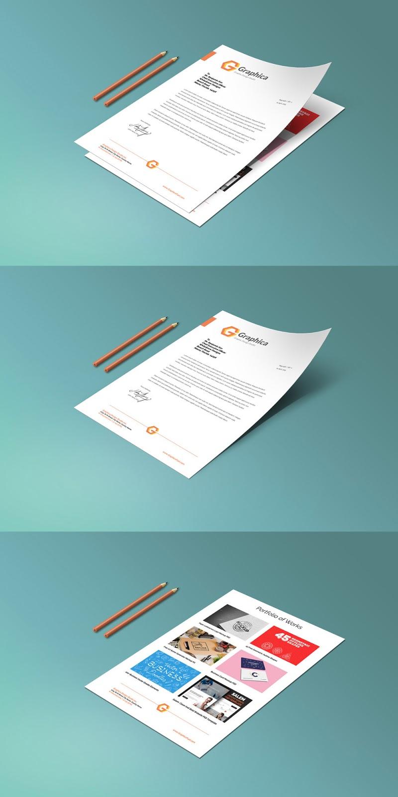 Letterhead Paper Mockup PSD
