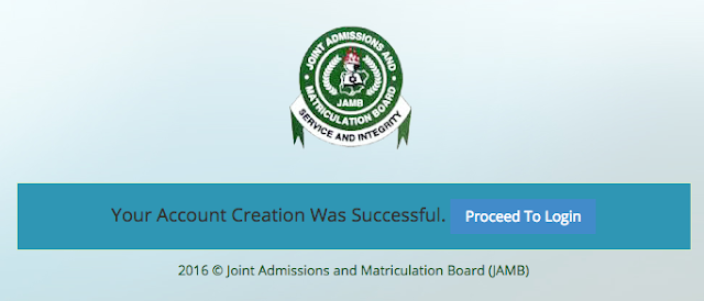 JAMB Account Login