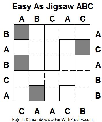 Easy As Jigsaw ABC (Mini Puzzles #1)