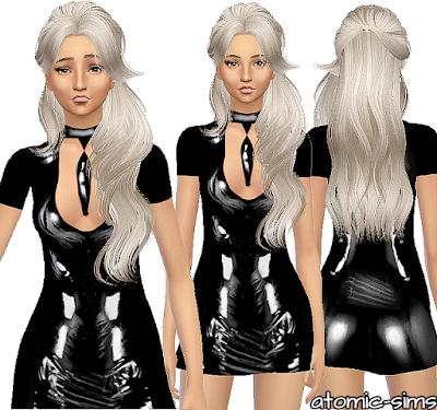 Atomicsims: Desiresims latex dress conversion / re-upload