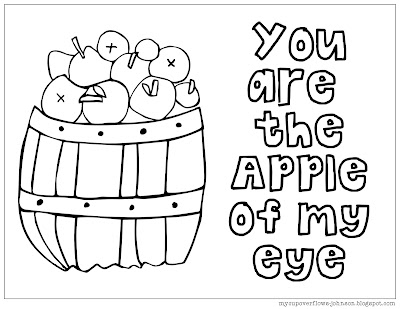 free fall coloring page apples
