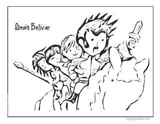 Bolívar a caballo caricatura