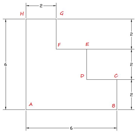 latihan dasar autocad -  membuat garis dengan Ortho dan polar