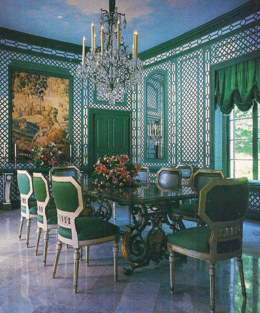 The Dining Room Miami: The Devoted Classicist: Valerian Rybar: Chic Chaises