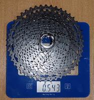 Casete Sunrace MS8 11x46.  Peso. Bitácora Vertical.