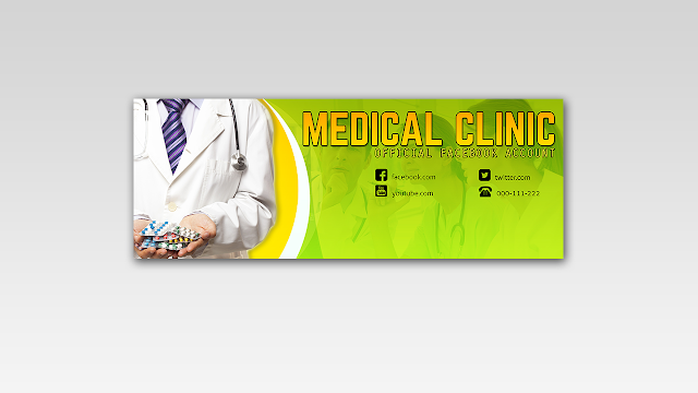 Download FREE PSD Facebook Timeline Cover design for Hospital and Doctors Free for Personal and Commercial use
