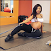 Laura Ikeji and her baby bump take beautiful pictures at the gym