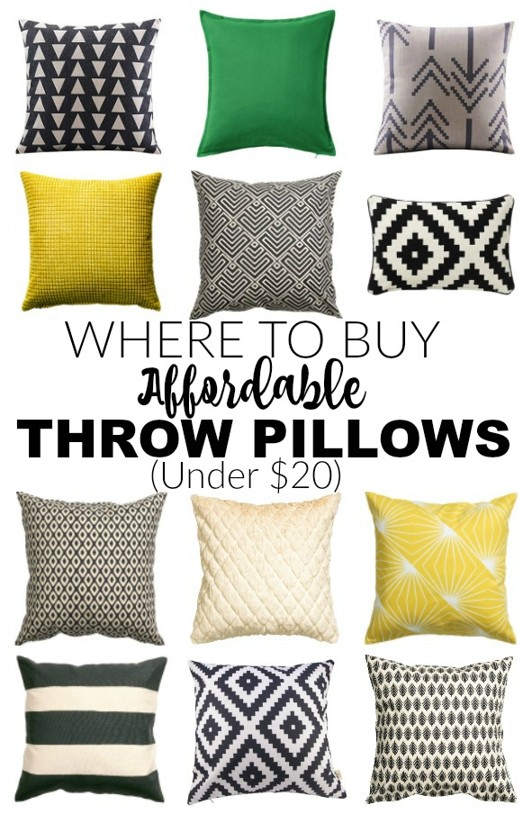 This is AWESOME advice!  HOW to save MONEY on pillows and WHERE to find beautiful and affordable throw ones for under $20! - Littlehouseoffour.com
