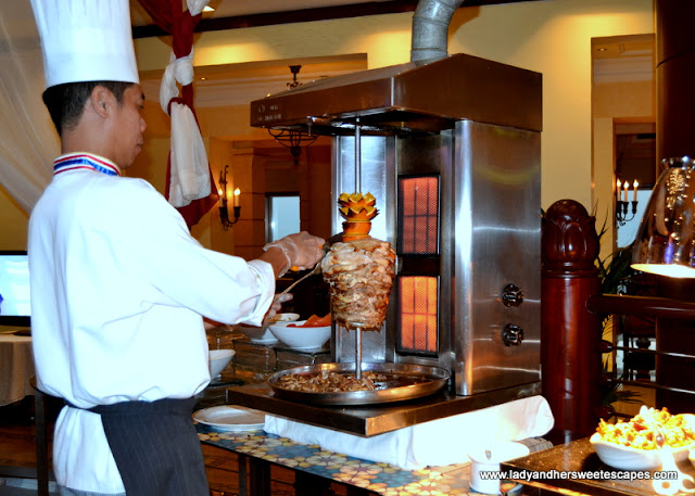 shawarma station at Dusit Thani