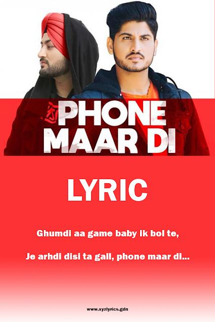 PHON MAAR DI LYRIC | Gurnam Bhullar | MixSingh | Video
