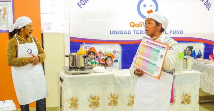Qali Warma muestra a los Comités de Alimentación Escolar cómo preparar alimentos - www.qaliwarma.gob.pe