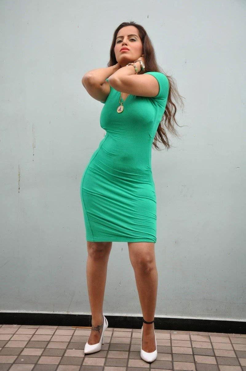 Meghana Patel Hot Photos In Short Dress At Thagubothu Rgv -6857