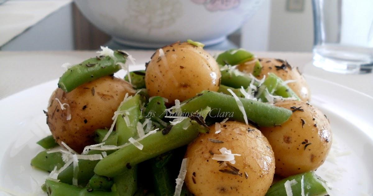 Los antojos de clara salteado de patatas con jud as - Tiempo coccion judias verdes ...