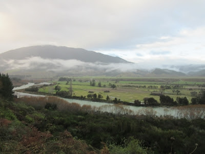 Paisaje de la región Tasman, Nueva Zelanda