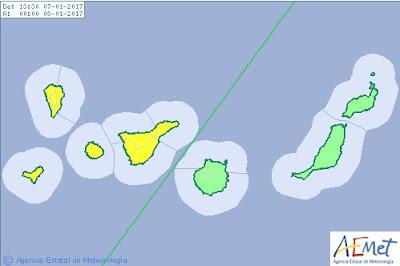 Desactivan aviso por viento a Gran Canaria, Fuerteventura y Lanzarote  7 enero