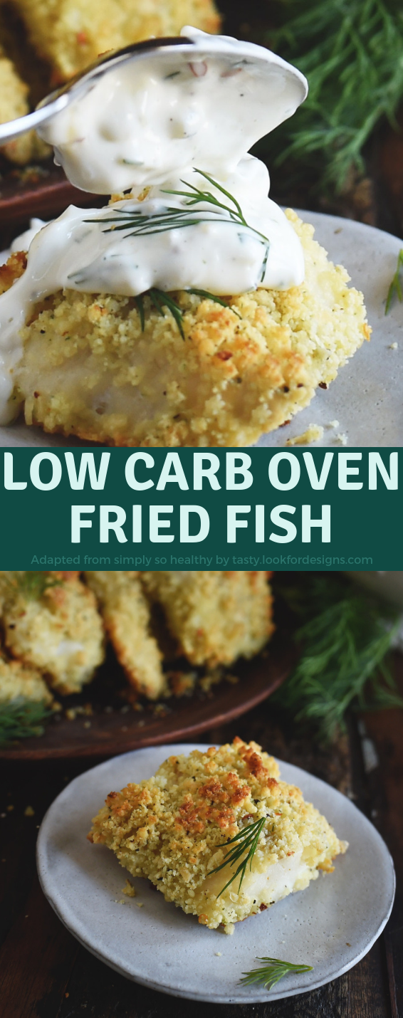 Low Carb Oven Fried Fish Fillets