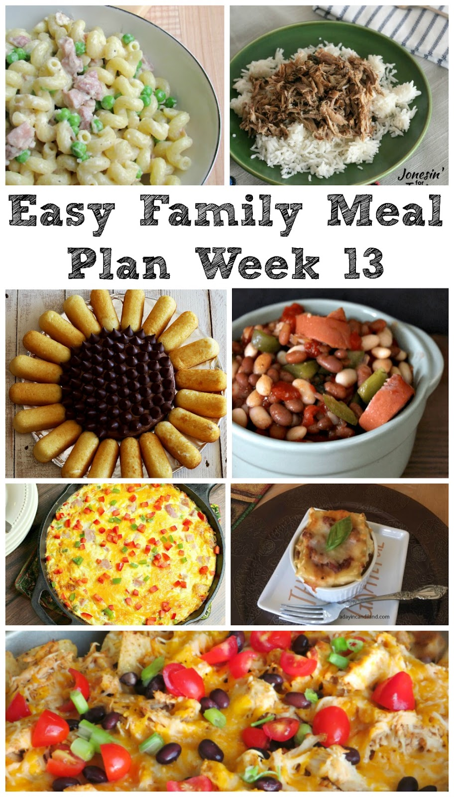 Cooking With Carlee Easy Family Meal Plan Week 13