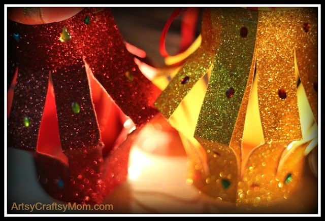 Glitter Paper Table Lantern