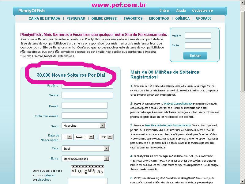Plentyoffish com free online dating