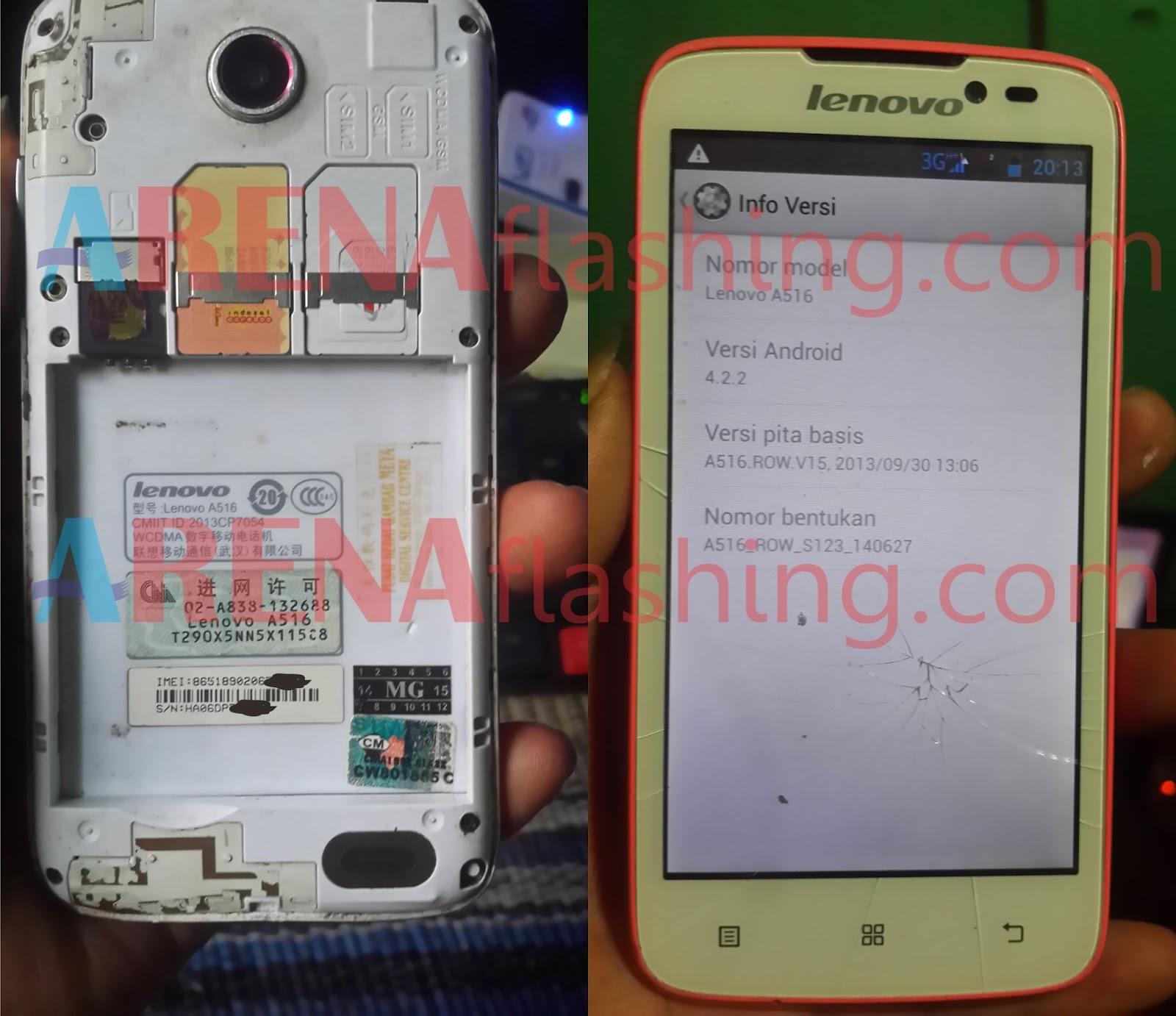Tutorial Flashing Lenovo A516 Tested - Tutorial Flashing