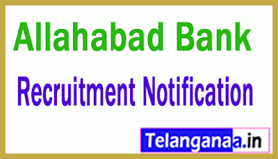 Allahabad Bank Recruitment Notification