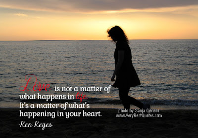great love is not a matter of what a matter of in life