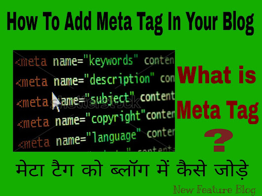 Meta tag kya hai ? Meta tag ko blog ya website me kaise add kare ?